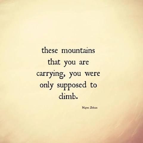 the mountains that you carry